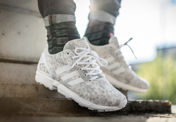 white mountaineering zx flux on foot
