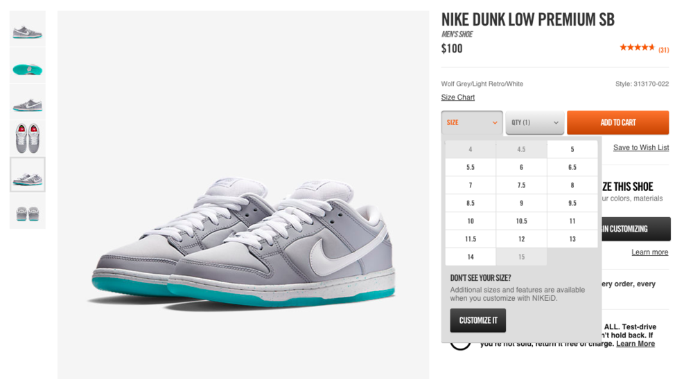 marty mcfly nike sb dunk low restock