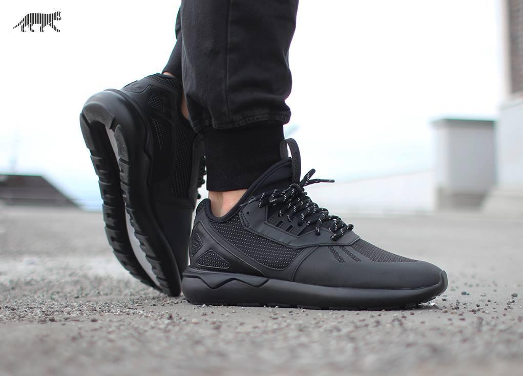Adidas Tubular Black On Feet