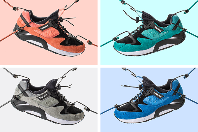 saucony bungee pack grid 9000