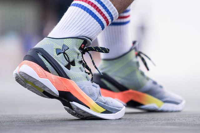 under armour curry two on foot
