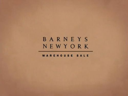 barney's warehouse logo on sale
