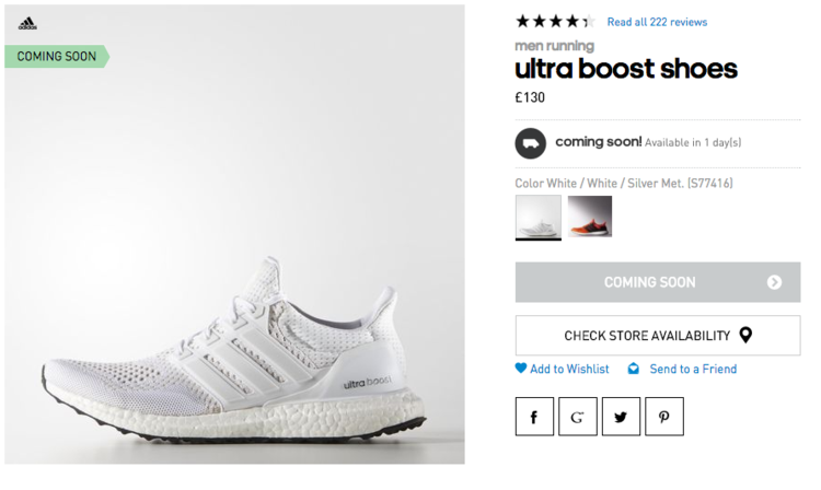 Adidas Ultra Boost All White Restock