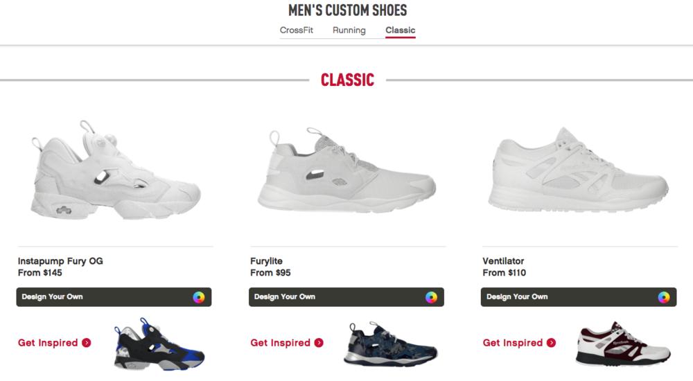 reebok custom sneaker