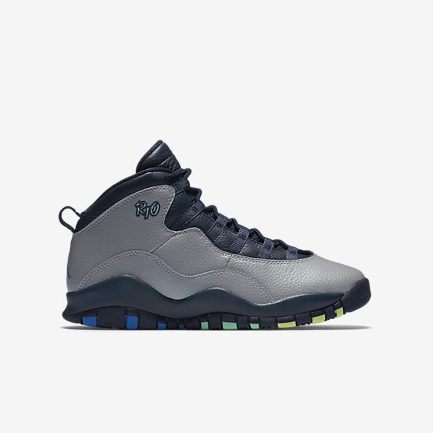 "Jordan X Retro (GS) ""Rio"" is on sale for $67 with code ""FALL25"" http://goo.gl/iLfHb2"
