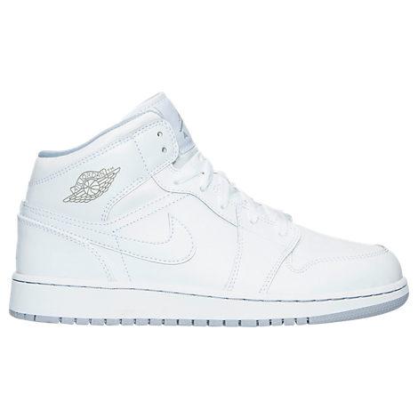The Triple White GS Jordan 1 Mid is on sale for $49.98 -> https://goo.gl/EvbR2d