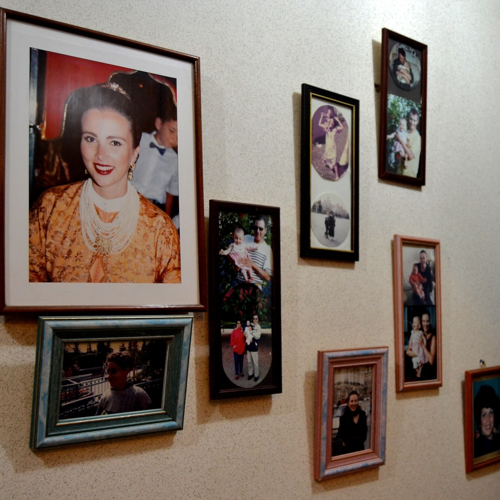 As treasured as the art collection, family photos line the hallways.