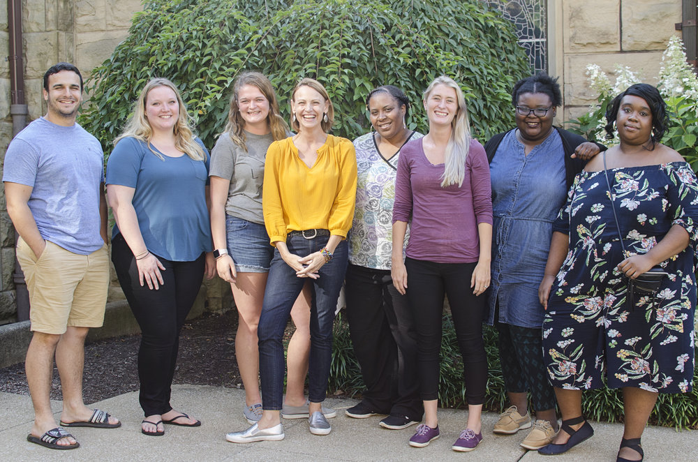 2018-2019 Tiqvah Staff (left to right) Chad, Ariel, Mariah, Karla, Kim, Ashley, Netta, Brittany
