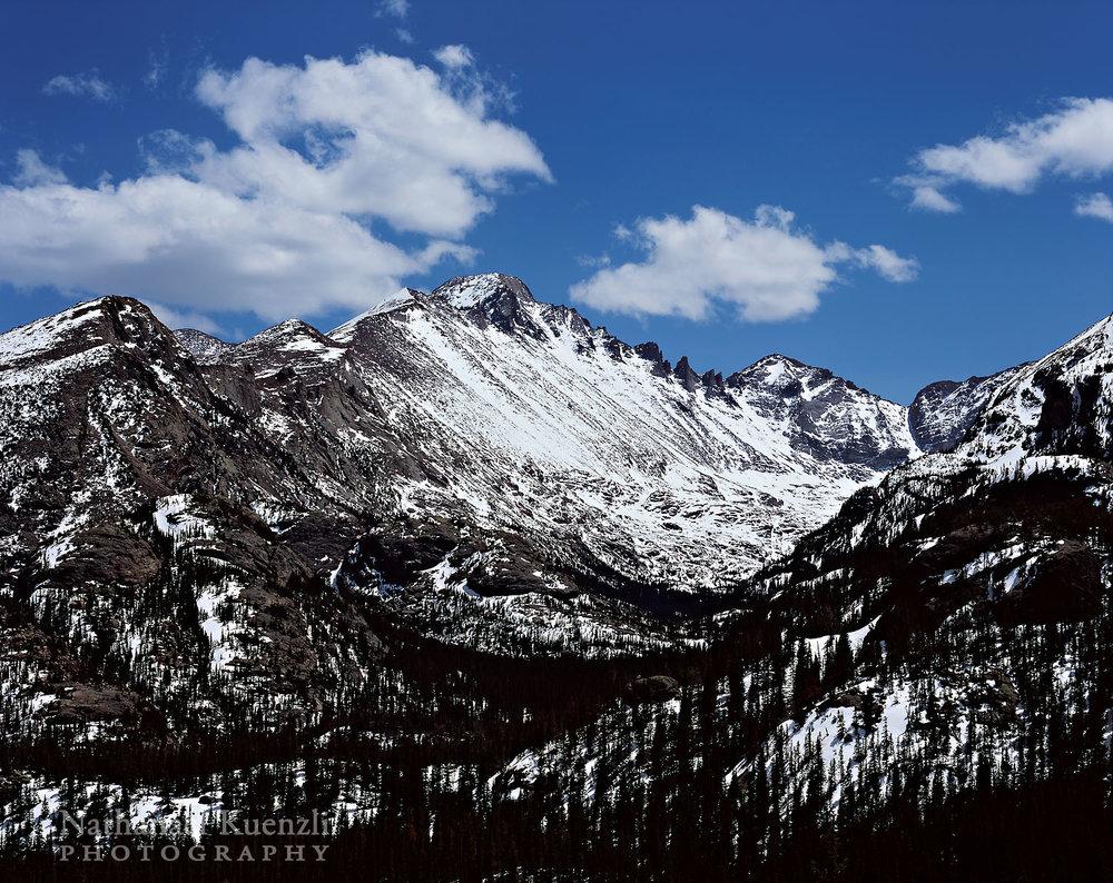 Glacier Gorge-Storm Peak-Longs Peak, Rocky Mountain NP, Colorado, May 2009