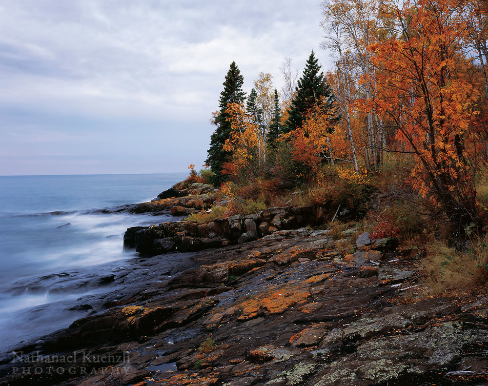 Lake Superior Shoreline, Cascade River State Park, Minnesota, October 2008