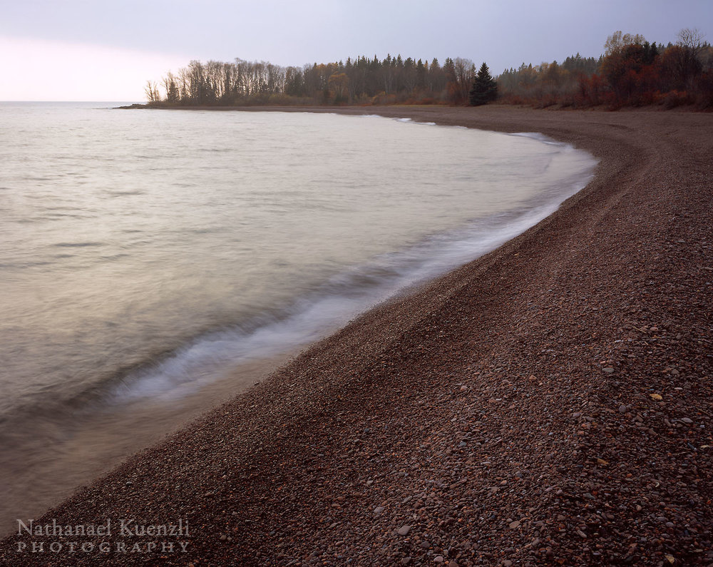Paradise Beach, Grand Portage State Forest, Minnesota, November 2004
