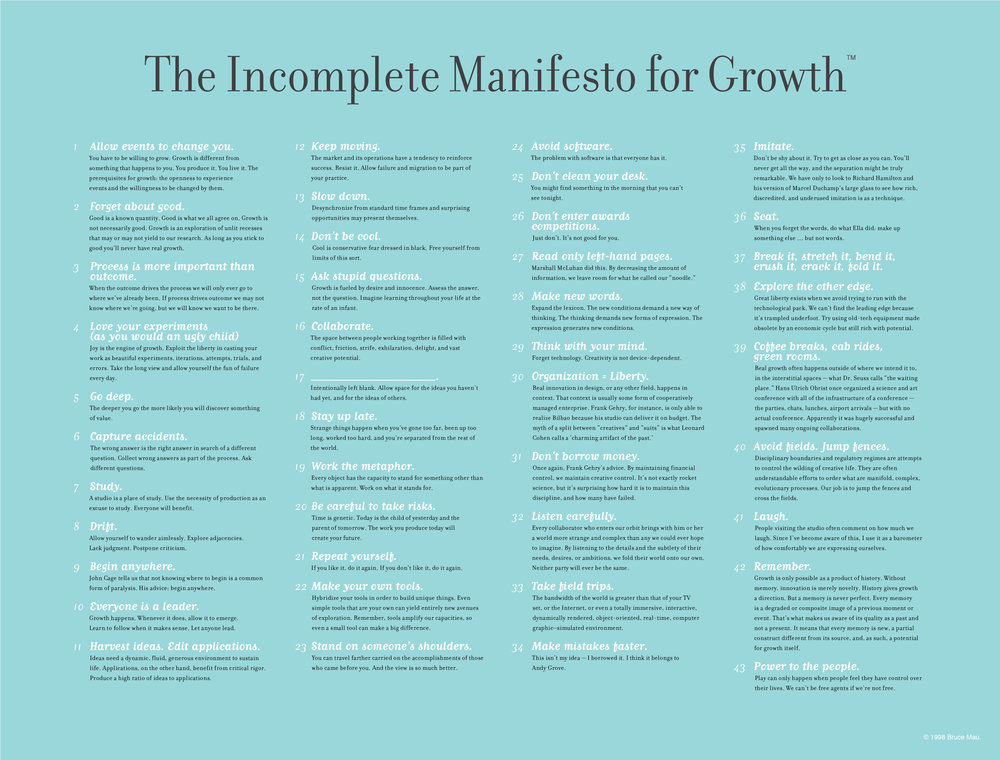 An Incomplete Manifesto for Growth