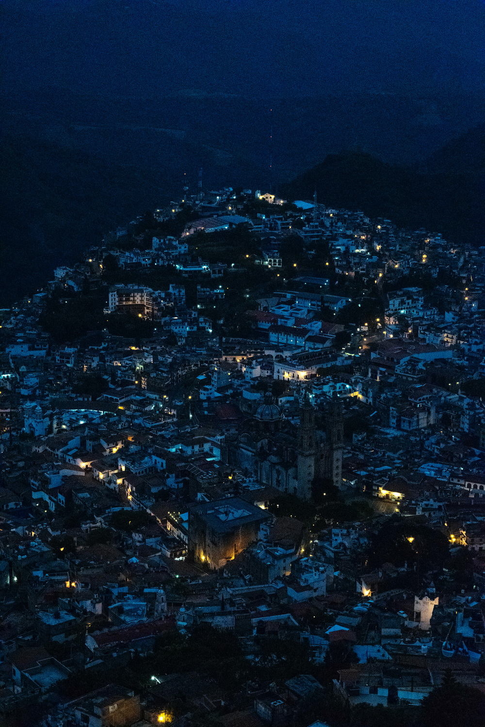 Taxco night landscape