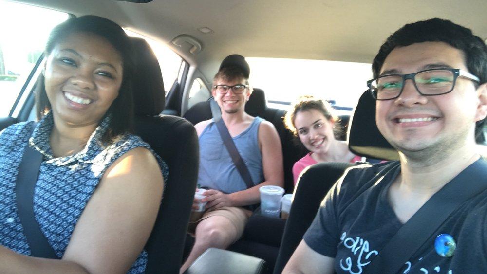 Cadedra, Me, Miryam, and Marcus