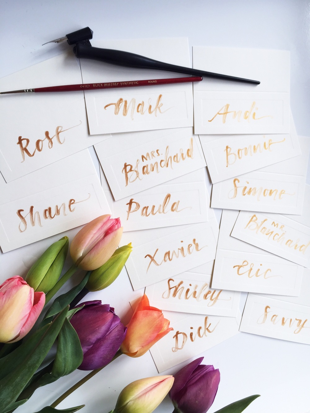 elopement brush lettering