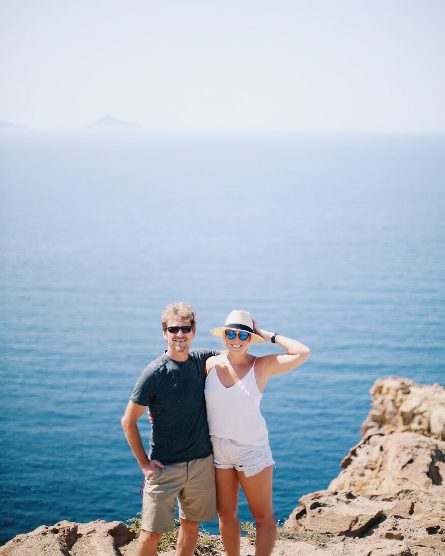 Dad and I, Hike to the Akrotiri Lighthouse