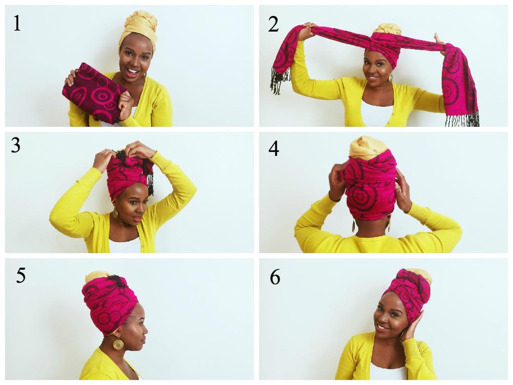 Как сделать шарф тюрбан