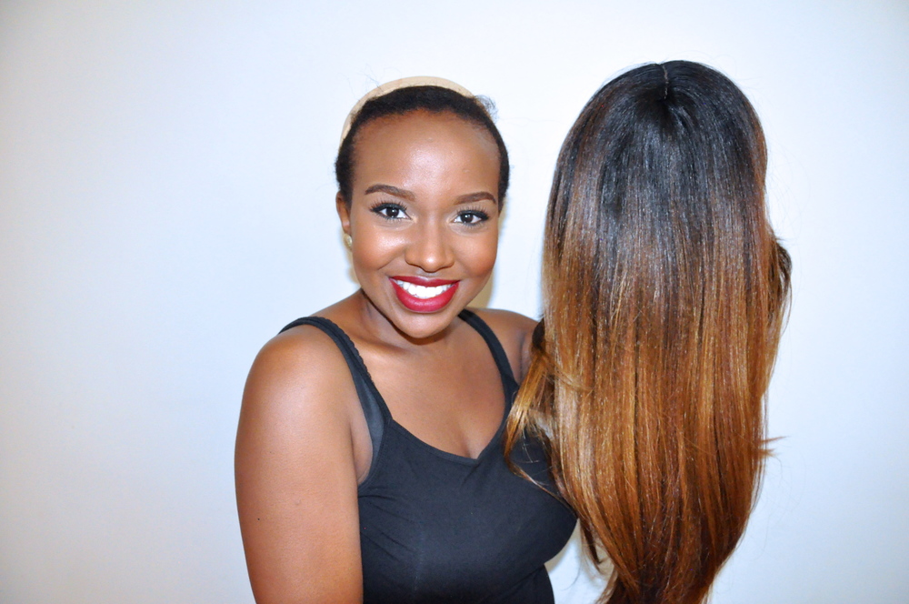 Smiles coz that ombre is so on point!