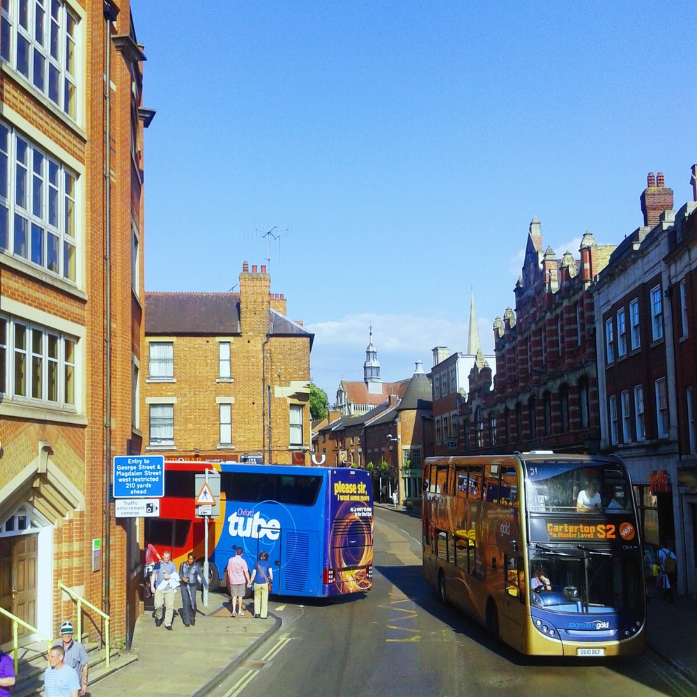 Gloucester Green - Buses to London from Oxford every hour.