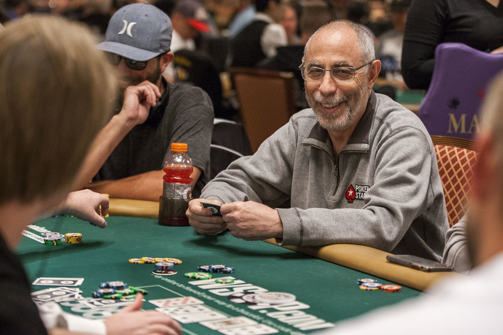 Barry Greenstein reacts after his decision to go all-in paid off in the $2,500 No-Limit Hold'em event in the World Series of Poker at the Rio Convention Center on Thursday, June 15, 2017.  Patrick Connolly Las Vegas Review-Journal @PConnPie