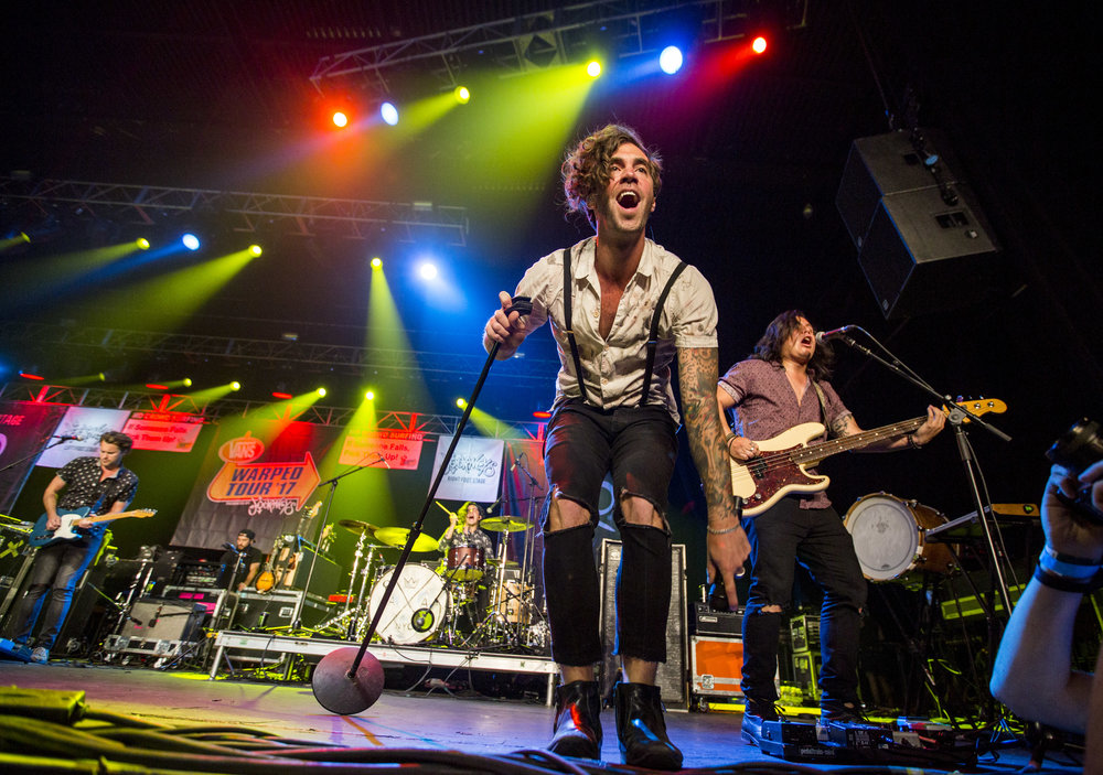 Zac Barnett of American Authors performs at Vans Warped Tour at the Hard Rock Hotel and Casino on Friday, June 23, 2017.  Patrick Connolly Las Vegas Review-Journal @PConnPie