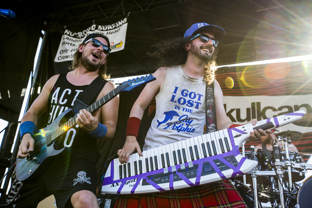 Christopher Bowes, right, and Máté Bodor of Alestorm perform at Vans Warped Tour at the Hard Rock Hotel and Casino on Friday, June 23, 2017.  Patrick Connolly Las Vegas Review-Journal @PConnPie