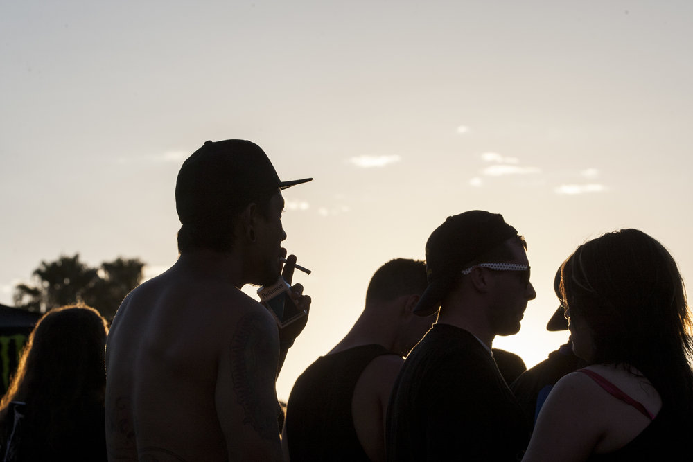 The sun sets on Vans Warped Tour attendees at the Hard Rock Hotel and Casino on Friday, June 23, 2017.  Patrick Connolly Las Vegas Review-Journal @PConnPie