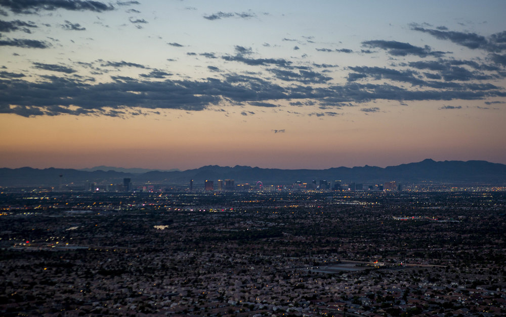 The Strip at dawn as seen from Lone Mountain on Tuesday, Aug. 8, 2017.  Patrick Connolly Las Vegas Review-Journal @PConnPie