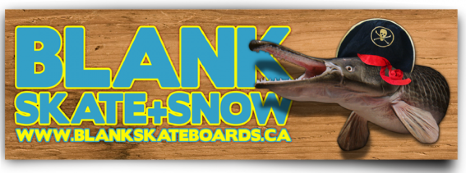 BLANK SKATE + SNOW Blank is another sponsor that has been with us from day one! With Blank on our side we have been given the opportunity to connect with the local skate scene here in Sherwood Park, Alberta. Blank has been more than willing since day one give us anything and everything we have needed to help the trip go smoothly as possible, we are so crazy stoked to have one of the OG skate shops support us with our campaign!