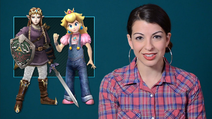 Anita Sarkeesian in a Feminist Frequency video (Image © Anita Sarkeesian).