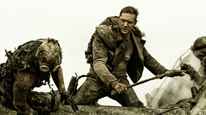 Tom Hardy, sans Bane mask, in Mad Max: Fury Road (Image © Warner Bros.).