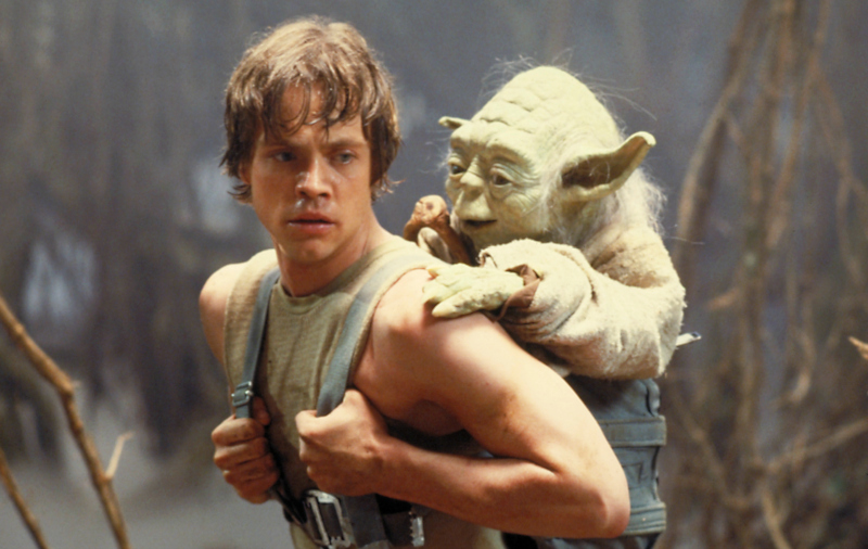 Luke Skywalker begins his Jedi training with Yoda (Image  ©  Lucasfilm).