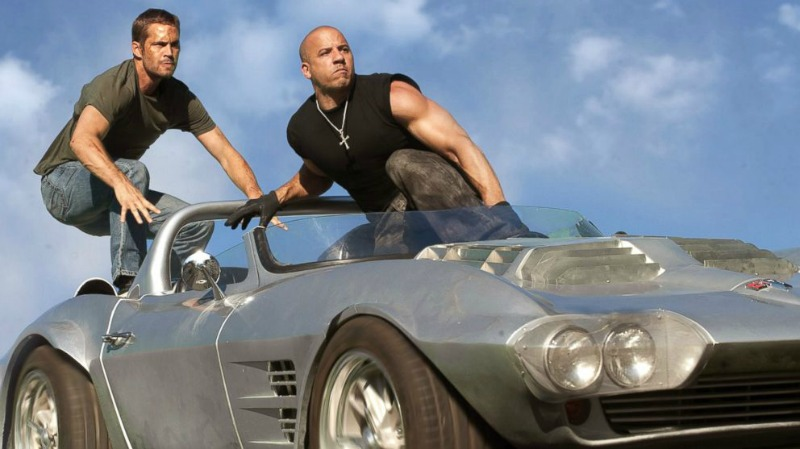 Paul Walker and Vin Diesel ride together one last time in Furious 7 (Image © Universal Pictures)