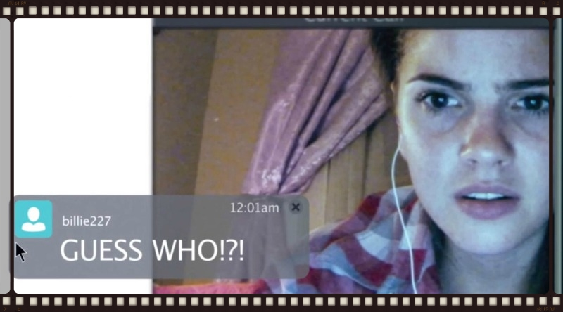 Shelley Henning is, like, super scared, you guys, in Unfriended (Image ©Universal Pictures).