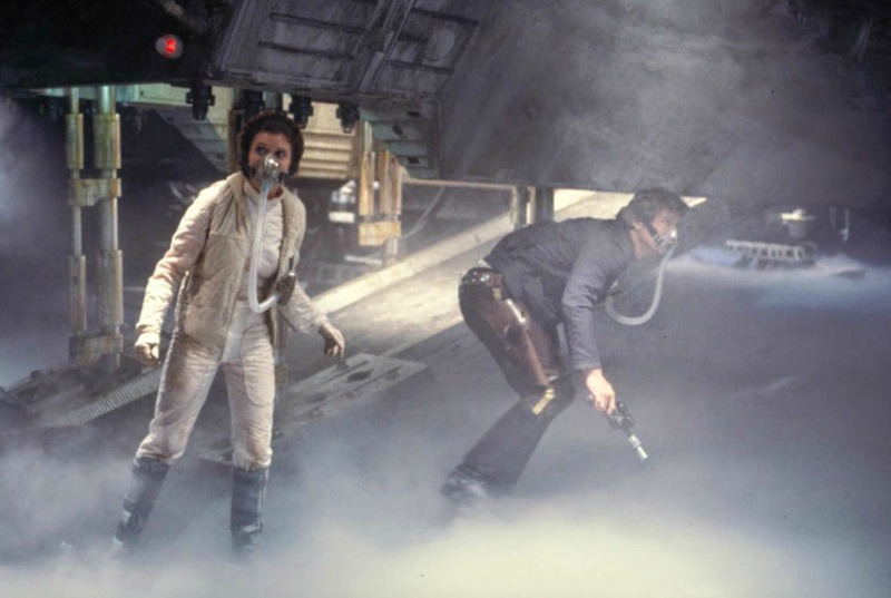 Leia and Han in the belly of a space worm. Spoiler. (Image © Lucasfilm)