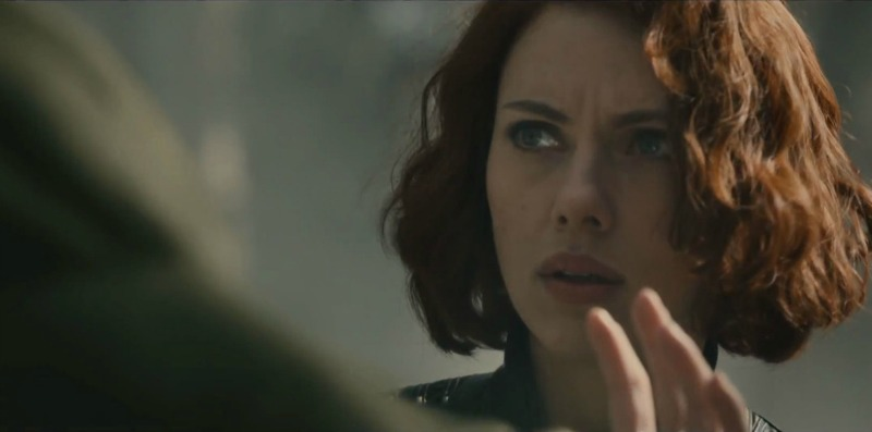 Black Widow (Scarlett Johansson) soothes the savage beast (Image © Marvel/Disney).