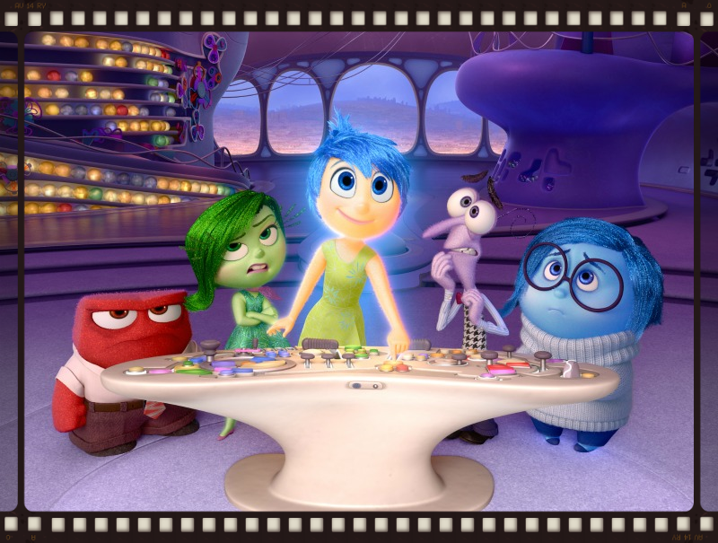 The emotions of Inside Out (Image © Pixar/Disney)