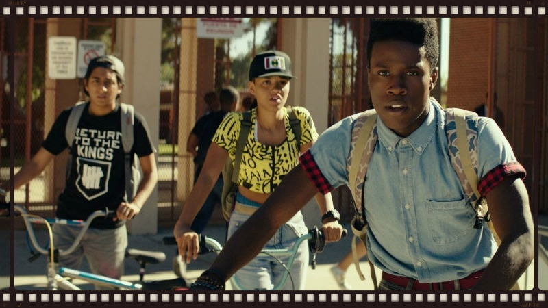 Tony Revolori, Kiersey Clemons, and Shameik Moore in Dope (Image  ©  Open Road Films)