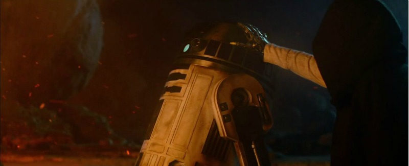 Luke Skywalker (probably) and R2-D2 as they will appear in this December's Star Wars Episode VII: The Force Awakens (Image © Lucasfilm/Disney).
