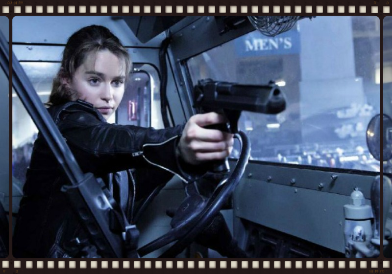 Emilia Clarke takes over for Linda Hamilton in the iconic role of Sarah Connor in Terminator Genisys (Image © Paramount Pictures).