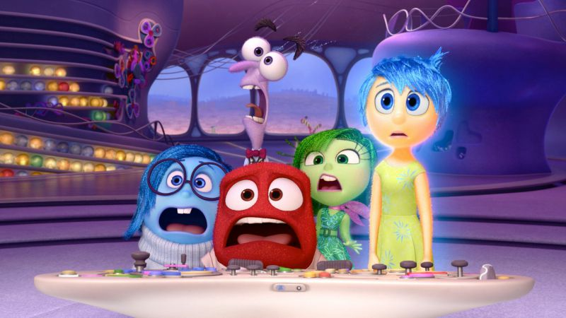 The emotions of Pixar's Inside Out (Image  ©  Pixar/Disney).