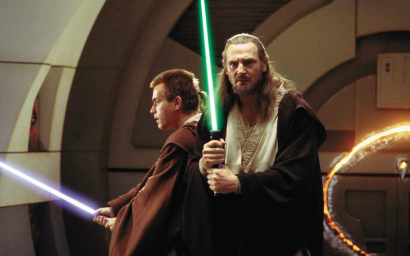 Ewan McGregor as Obi Wan Kenobi and Liam Neeson as Qui-Gonn Jinn (Image © Lucasfilm/Disney).