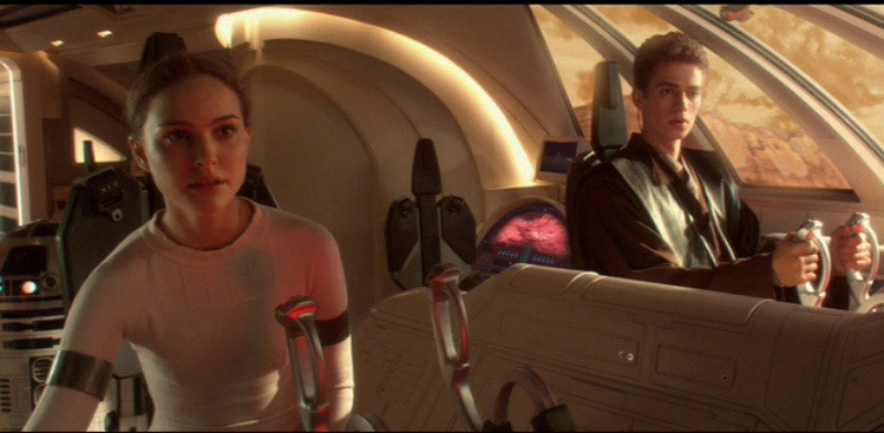 Padme (Natalie Portman) and Anakin (Hayden Christensen), chart a course into star-crossed romance and ... zzz ... zzzz ... zzzzzz ... (Image © Lucasfilm).