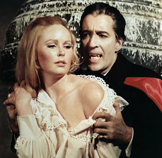 Veronica Carlson and Christopher Lee (Image © Hammer Films)