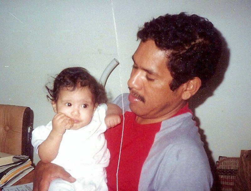 The author with her father, Summer 1992 (Image © Darlene P. Campos).