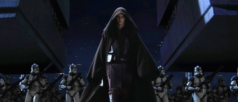 Darth Vader leads the attack on the Jedi Temple, part of Emperor Palpatine's Order 66, in Revenge of the Sith (Image  ©  Lucasfilm).