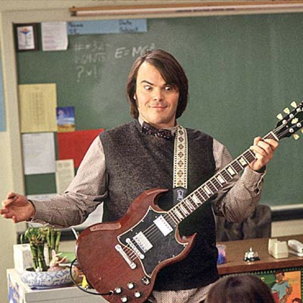 Jack Black in School of Rock (Image © Paramount Pictures)