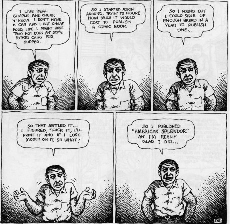 A page from Pekar's American Splendor. Art by Robert Crumb (Image © Harvey Pekar)