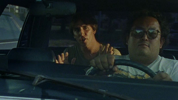 Linklater's cameo appearance in his movie Slacker. (Image © Millennium Entertainment)