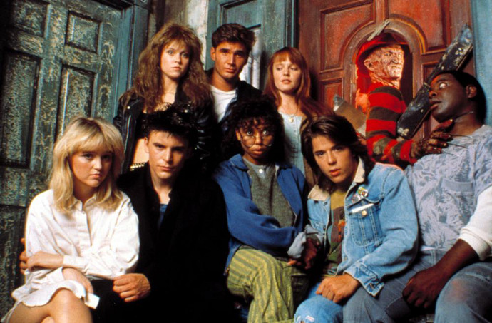 Sagoes with the Elm Street cast.